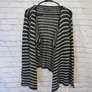 Wooden Ships striped Sweater cardigan size M/L
